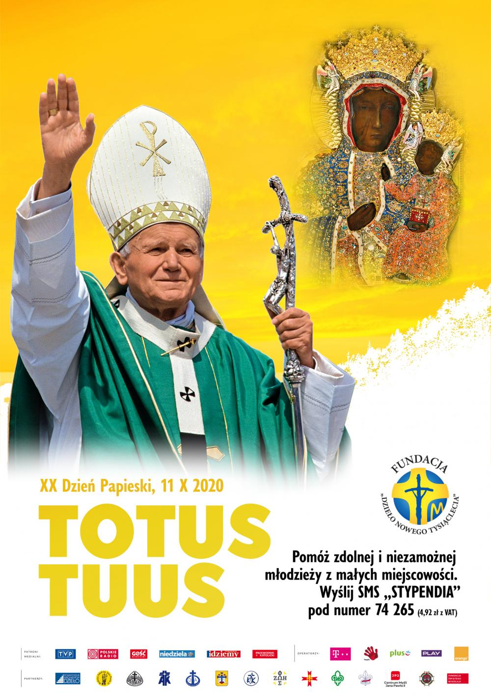TOTUS TUUS XX Dzień Papieski Niedziela, 11 października 2020 roku